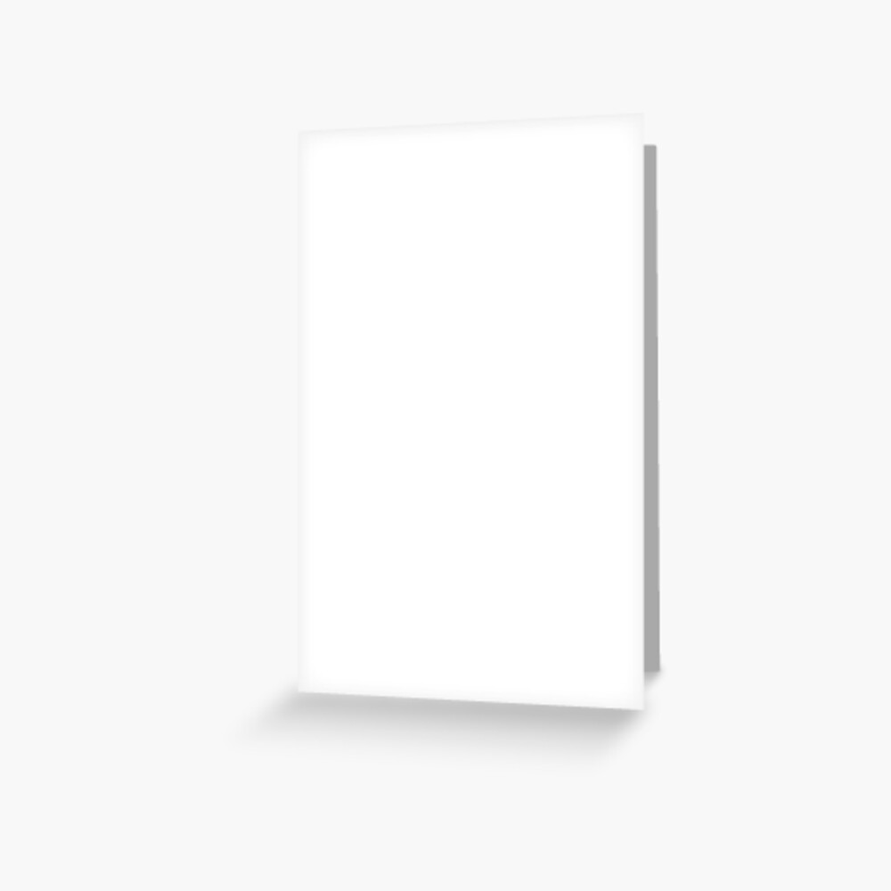 White test Greeting Card