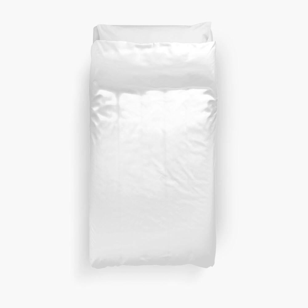 White test Duvet Cover