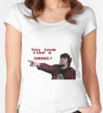JonTron: YOU LOOK LIKE A SNAKE!  Women's Fitted Scoop T-Shirt
