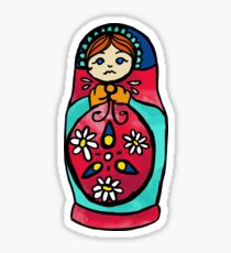Russian Stacking Doll Sticker Sticker