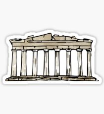 Greek Parthenon Sticker Sticker