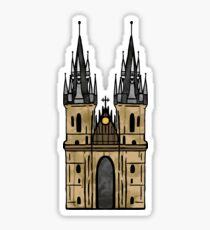 Prague Church Sticker Sticker