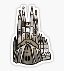 Barcelona Sagrada Familia Sticker Sticker