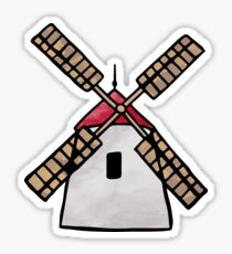 Netherlands Windmill Sticker Sticker