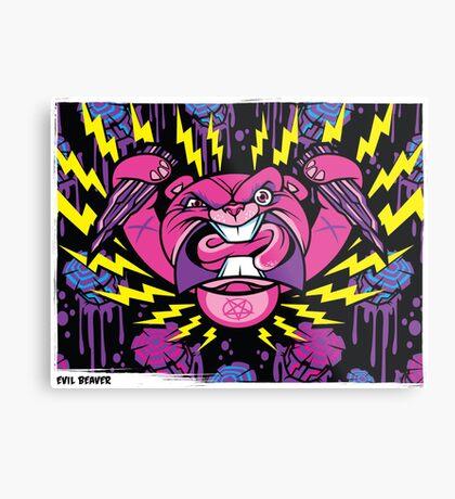 Evil Beaver Metal Print