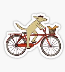 Dog & Squirrel are Friends Sticker