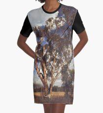 Australian Windswept Tree 01 Graphic T-Shirt Dress