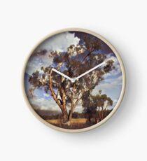 Australian Windswept Tree 01 Clock