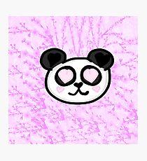 Kawaii Panda Love Photographic Print