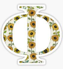 Phi- Sunflower Greek Letter Sticker