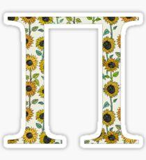 Pi- Sunflower Greek Letter Sticker
