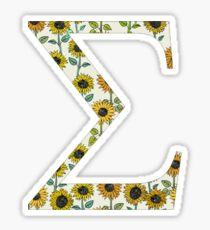 Sigma- Sunflower Greek letter Sticker