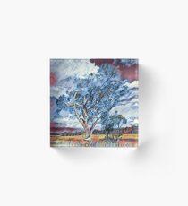 Australian Windswept Tree 02 Acrylic Block