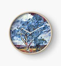 Australian Windswept Tree 02 Clock
