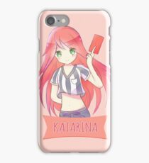 Red Card Katarina chibi iPhone Case/Skin