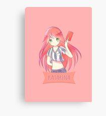 Red Card Katarina chibi Canvas Print