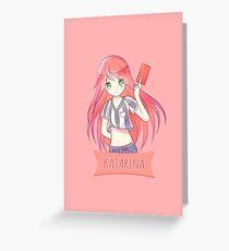 Red Card Katarina chibi Greeting Card