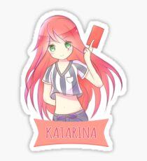Red Card Katarina chibi Sticker