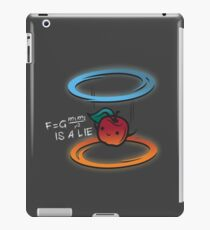 The apple is a lie iPad Case/Skin