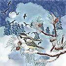 Winter Blues Turned White  (art & writing) by Charldia