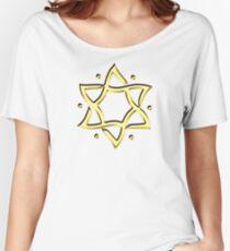 Star of David, ✡, Hexagram, Israel, Judaism,  Women's Relaxed Fit T-Shirt