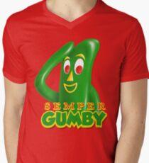 Semper Gumby Mens V-Neck T-Shirt