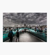 The Millennium Approach to St Paul's Photographic Print