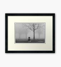 Headless in the fog  Framed Print
