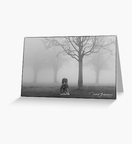 Headless in the fog  Greeting Card
