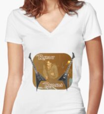 Randy Rhoades Women's Fitted V-Neck T-Shirt
