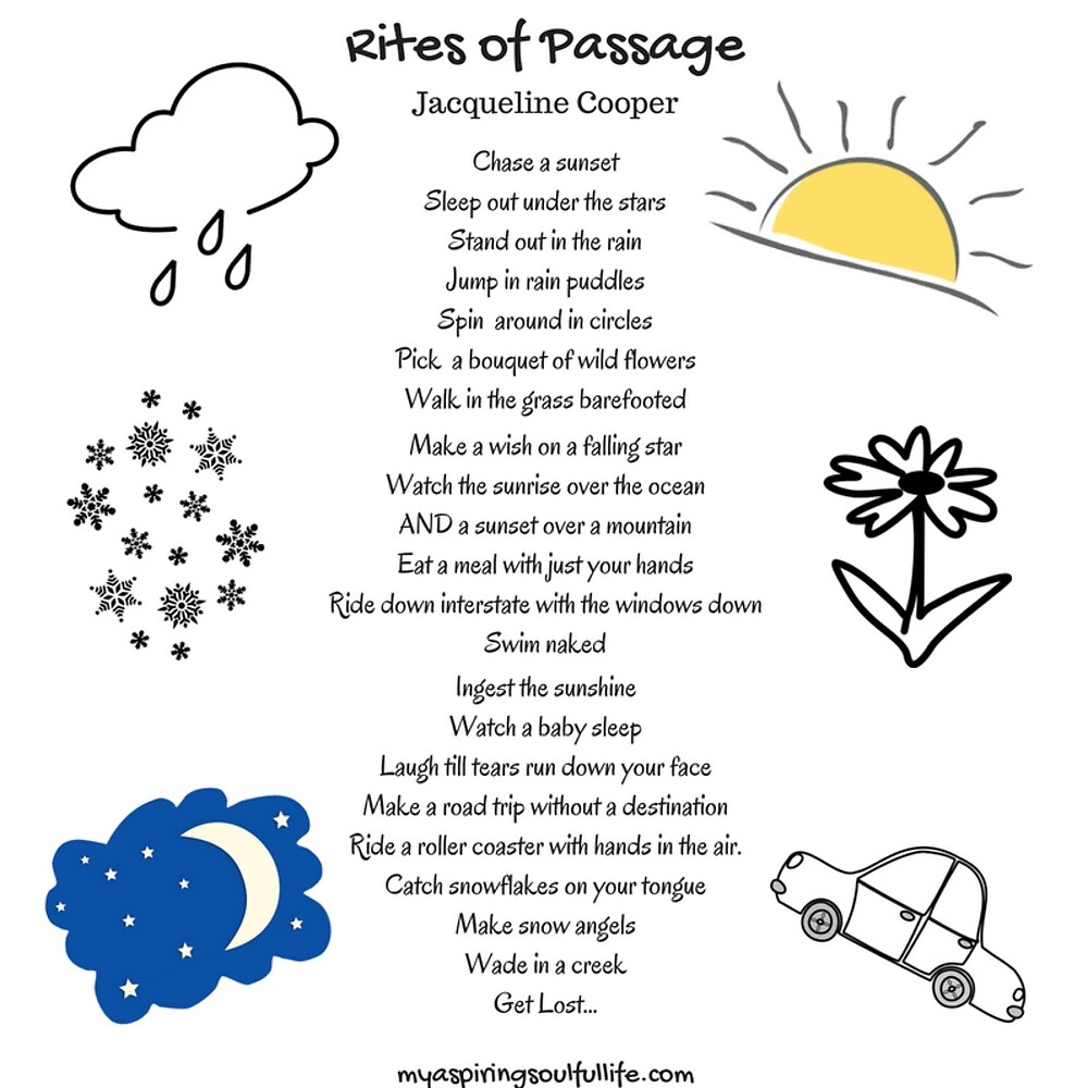 Rites of Passage by Jacqueline Cooper