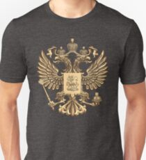Armoiries d'or russes T-shirt unisexe