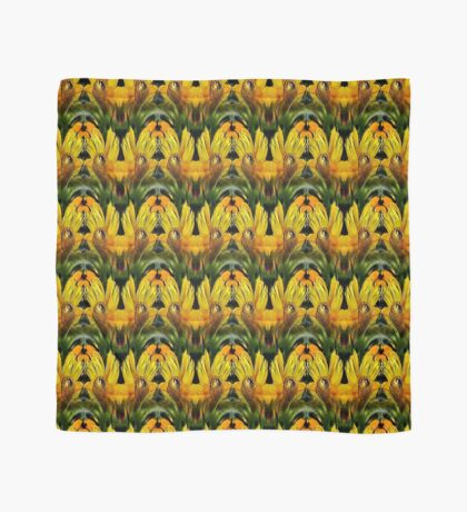 Abstract Yellow Daisy Flowers Design Scarf