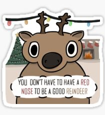 Dull-Nosed Reindeer Sticker