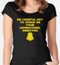 Star Wars Rogue One Darth Vader Quote Choke Krennic Women's Fitted Scoop T-Shirt