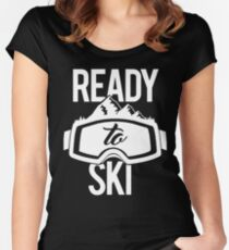 Ready To Ski Women's Fitted Scoop T-Shirt