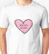 "Forensics/Debate ""Break finals, not hearts"" Slim Fit T-Shirt"