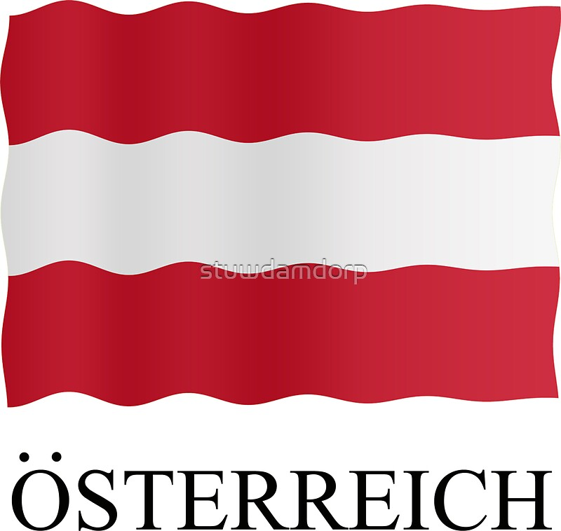 Austria flag by stuwdamdorp