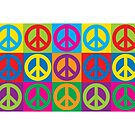 Pop Art Peace Symbols by Lisann