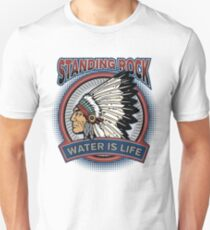 Standing Rock Native Chief Water is Life T-Shirt