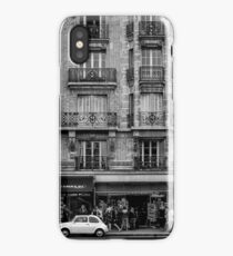 White Car in Paris iPhone Case/Skin