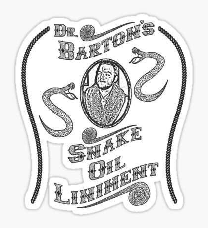 Dr. Barton's Snake Oil Liniment Sticker