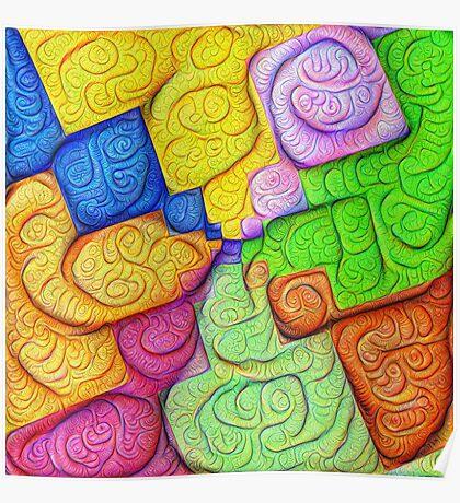 Asymmetry of color foam #DeepDream Poster