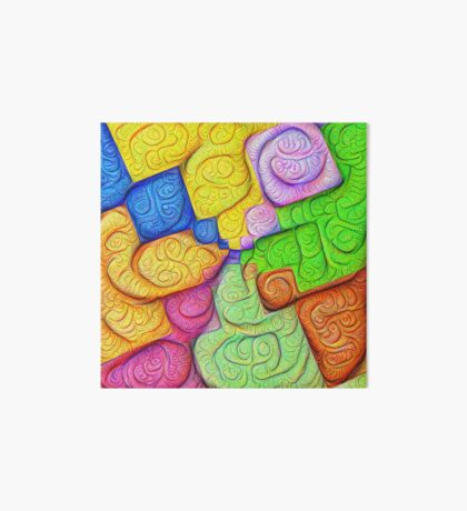 Asymmetry of color foam #DeepDream Art Board Print