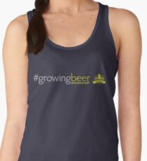 Growing Beer Light Text Women's Tank Top