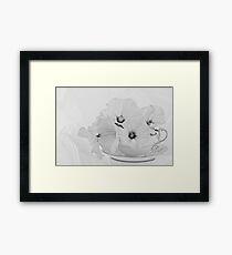 Lavatera Flowers In Tea Cup - Still Life Framed Print