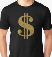 Gold Dollar Sign Unisex T-Shirt