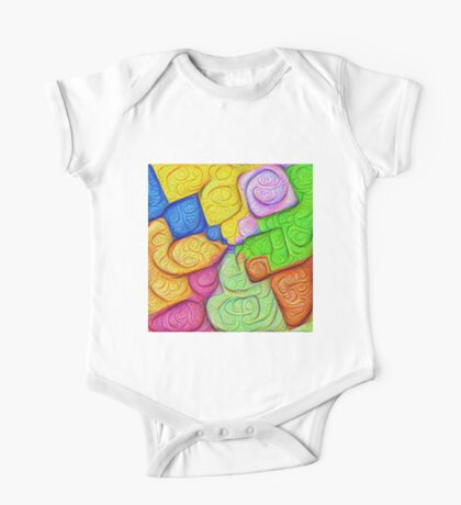 Asymmetry of color foam #DeepDream Kids Clothes
