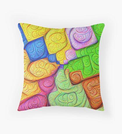 Asymmetry of color foam #DeepDream Throw Pillow