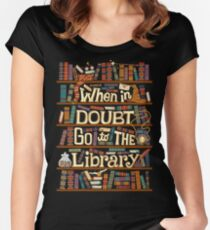 Go to the library Women's Fitted Scoop T-Shirt